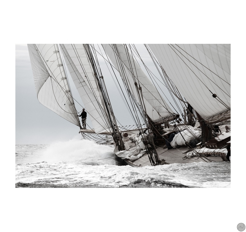Classic Boat In The Waves Art Print Artwall And Co