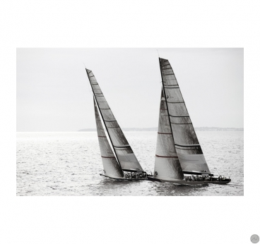 Canvas print of the America's cup with a black and white effect