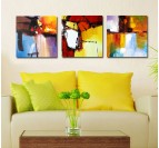 Paysage de couleurs tableau abstrait
