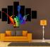 Tableau Abstrait Color Splash