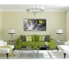 Green Eyes Cat Trendy Art Work