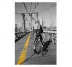 Cycliste sur Pont
