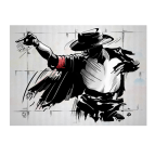 Michael Jackson moonwalk canvas print in grey touch