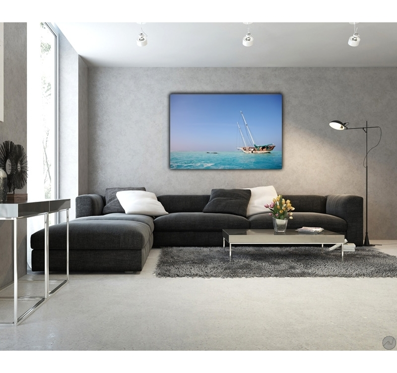 cadre paysage epave sur le corail artwall and co. Black Bedroom Furniture Sets. Home Design Ideas