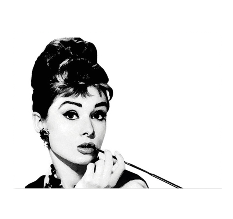 Audrey Hepburn Smoking Contemporary Canvas Artwall And Co