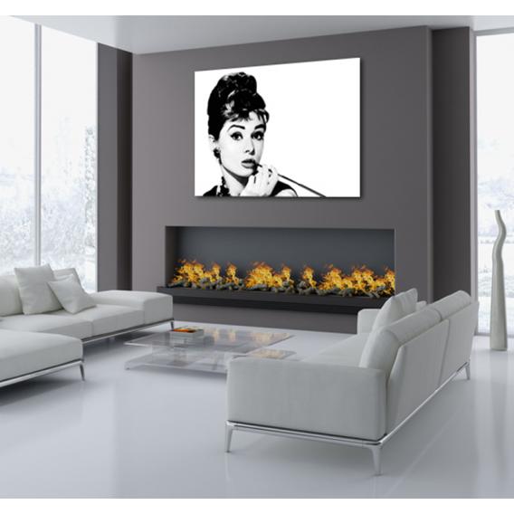 Audrey Hepburn Smoking contemporary canvas