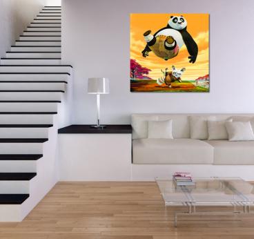 Tableau mural pour enfant de Kung Fu panda pour decoration murale