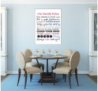 Family Rules Tableau Moderne