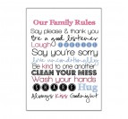 Family Rules Tableau Mural