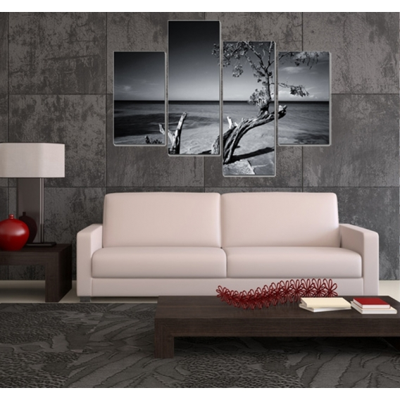 Tree above Sea Modern Canvas