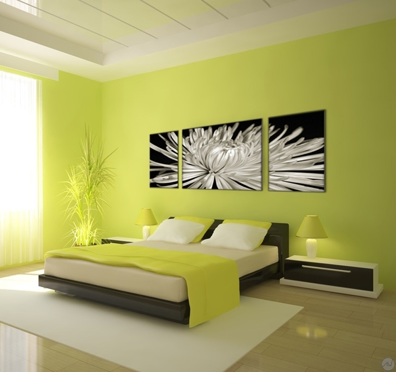 tableau d coratif fleur blanche artwall and co. Black Bedroom Furniture Sets. Home Design Ideas