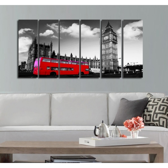 London Bus City Canvas