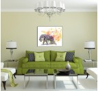 Pastel Elephant Animal art print