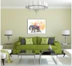 Tableau Animal Eléphant en Pastel