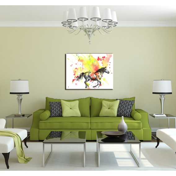 Multicolor Horse modern art print