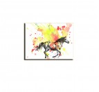 Tableau design cheval multicolore