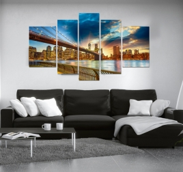 New York Lights modern city art print