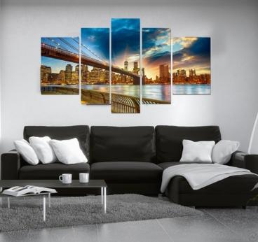 Toile Ville Moderne Lumière de New York
