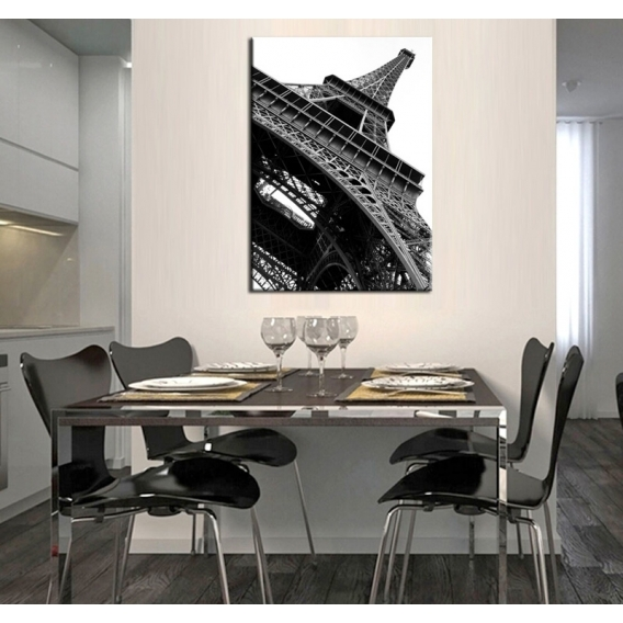 Grey Eiffel Modern art canvas