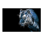 Wall canvas print decoration of tiger with black and blue colors