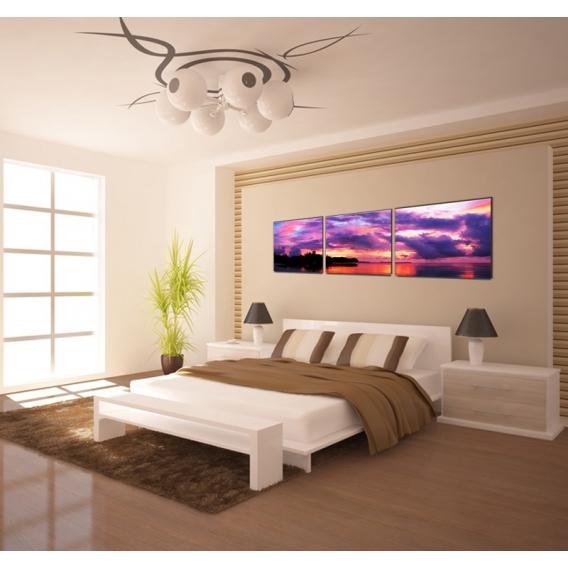 Sky Landscape Violet Art Print