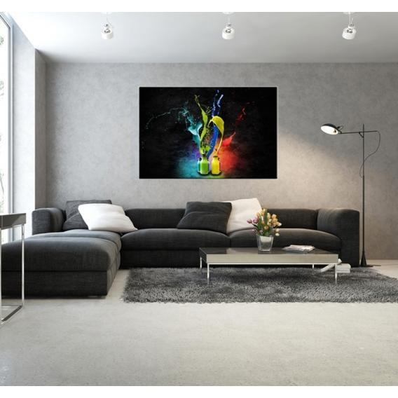 tableau contemporain peinture de couleur artwall and co