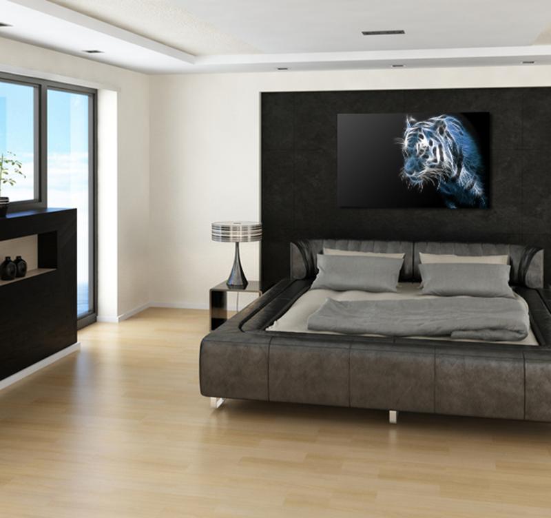 tableau animaux tiger spirit. Black Bedroom Furniture Sets. Home Design Ideas