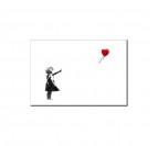 Tableau Déco Fille avec Ballon