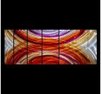 Tableau peinture abstrait réalisé au pinceau en rouge et multicolore