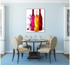 Colorful Bottle Contemporary Art Print