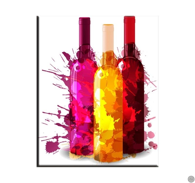 Colorful Bottle Contemporary Art Print Artwall And Co