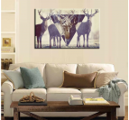 Trendy Deer Modern Art Print