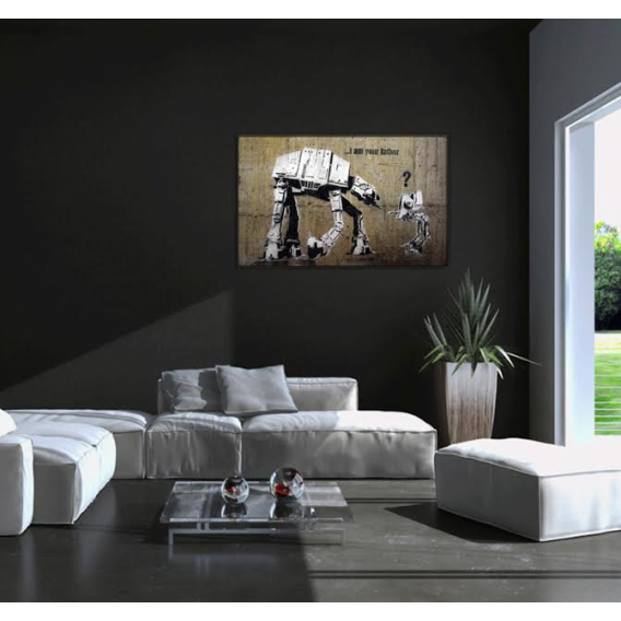 Funny Star Wars modern decorative art print
