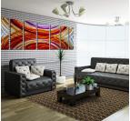 Peinture abstraite design d'ondes de choc pour une déco murale tendance