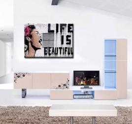 Tableau Moderne Life is Beautiful