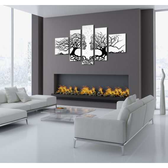 Kissing Trees Abstract Painting