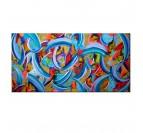 Peinture Abstraite Bleu d'Automne