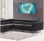 Heart Island Modern Canvas