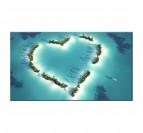 Tableau moderne L'île au Coeur
