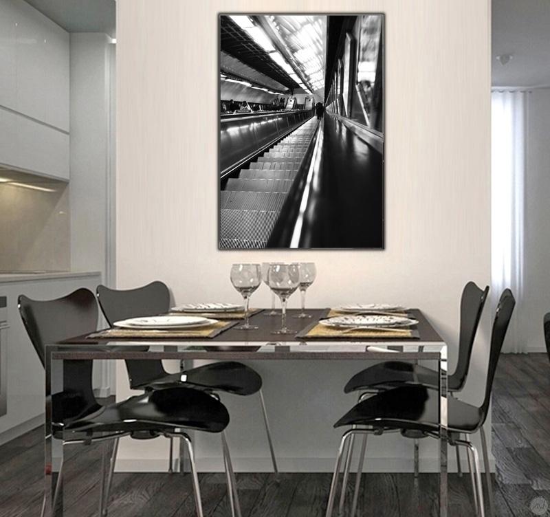 photographie contemporaine escalator lumineux artwall and co