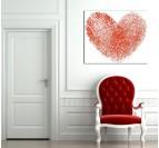 Tableau Deco Empreintes du Coeur