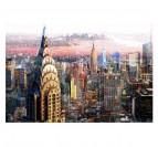 Tableau Abstrait Paysage New York Horizon