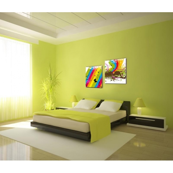Multiple Modern Canvas Child Rainbow