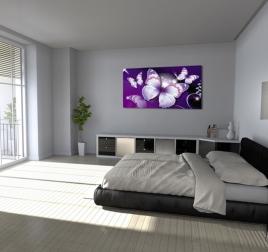 Tableau Design Papillons Violets