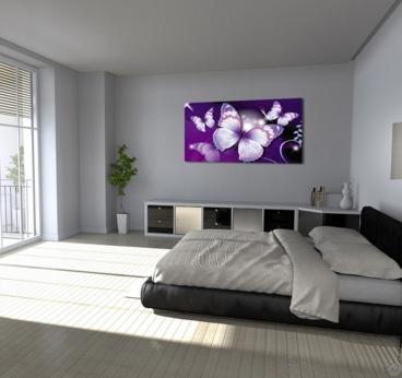 Tableau moderne de papillons violets pour une déco tendance