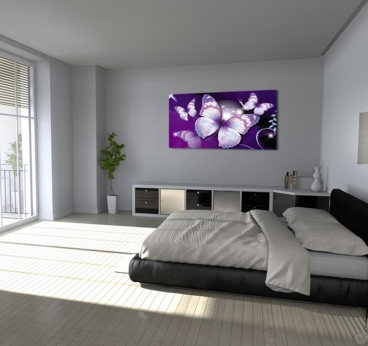 Violet Butterfly design canvas print for wall decoration