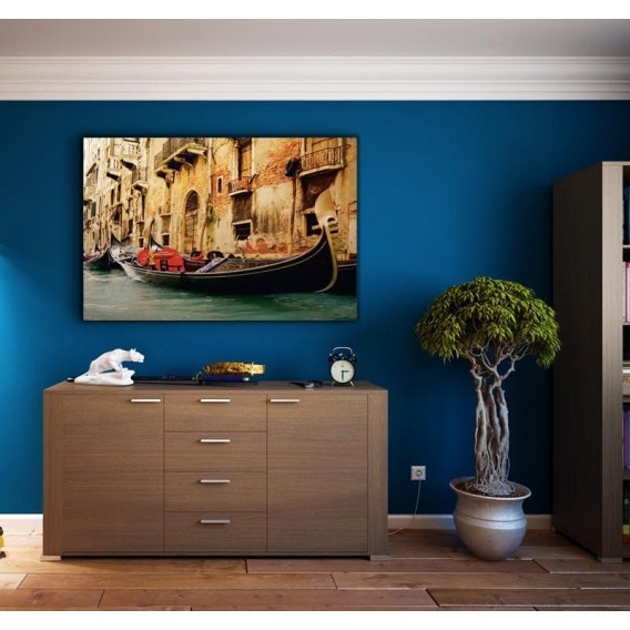 The Waters of Venice on Canvas