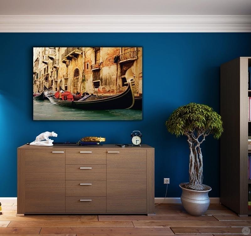 tableau ville venise sur l 39 eau artwall and co. Black Bedroom Furniture Sets. Home Design Ideas