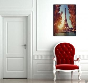 Toile Imprimée Moderne Rive de la Tour Eiffel