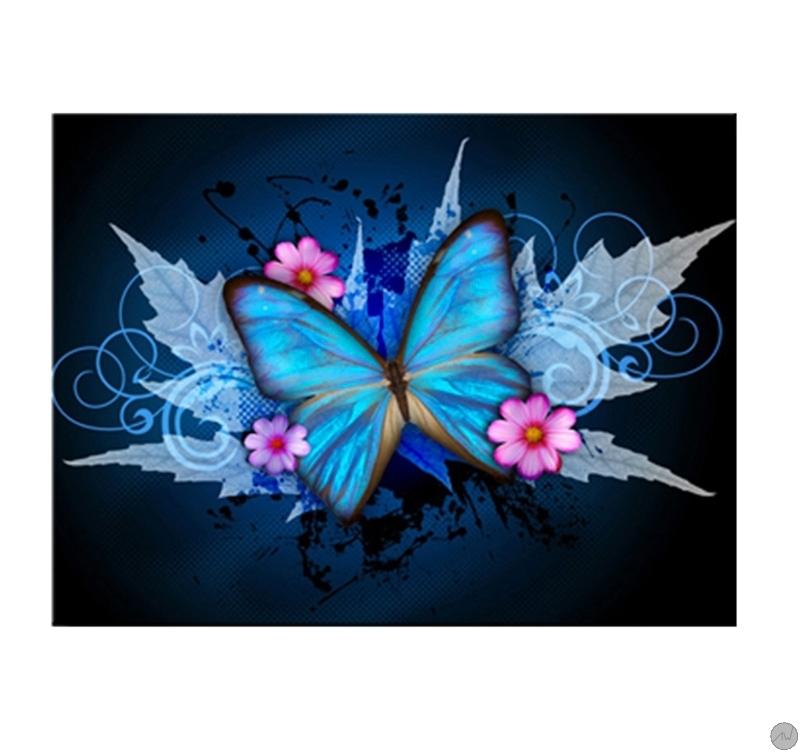 Blue Butterfly Modern Art Print Artwall And Co